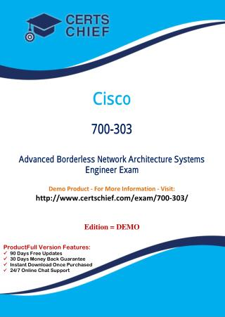700-303 Professional Certification Test