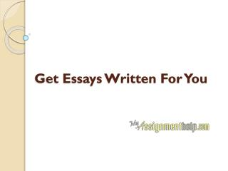 Essays Written For You in Uk