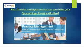 Practice management services