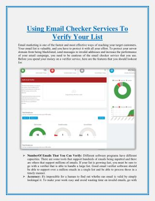 Using Email Checker Services To Verify Your List