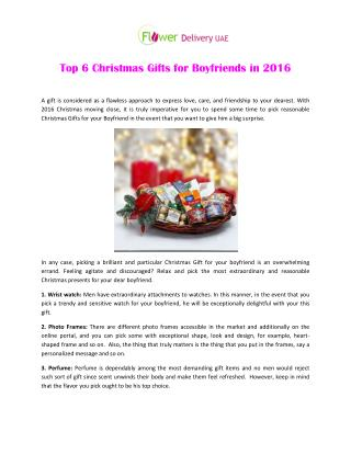 Top 6 Christmas Gifts for Boyfriends in 2016
