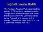 Regional Protocol Update