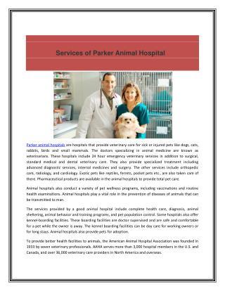 Parker Animal Hospitals