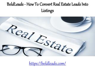 BoldLeads Reviews - Convert real estate leads into listings using these tips