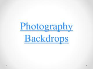 Successful Photography Backdrops for Business