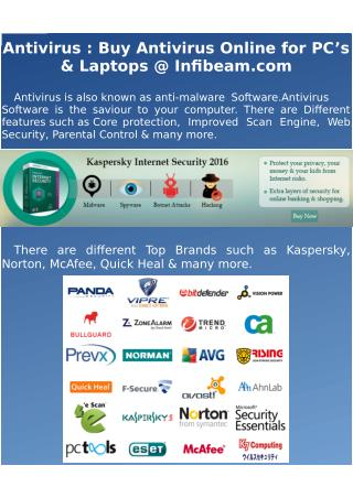 Antivirus : Buy Antivirus Online for PC's & Laptops @ Infibeam.com