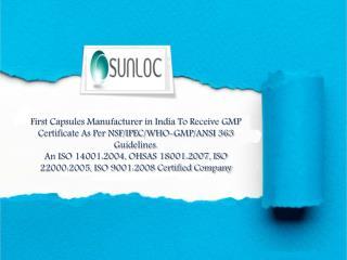 Sunil Healthcare Limited Capsule Manufacturer In India