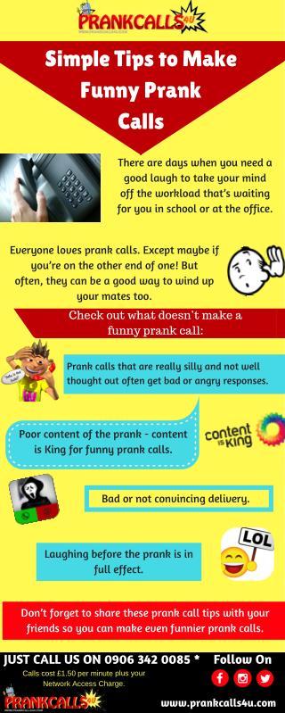 Tips to make a Funny Prank Call