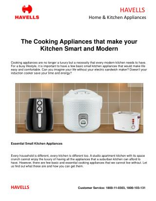 The Cooking Appliances that make your Kitchen Smart and Modern