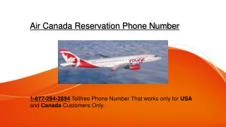 Air Canada ##1-877-294-2894@@## Reservation Phone Number