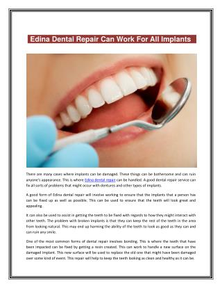 Edina dental repair