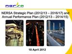 NERSA Strategic Plan 2012