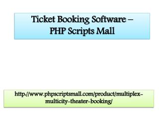 Ticket Booking Software – PHP Scripts mall