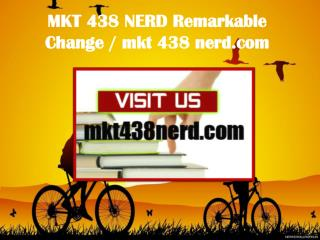 MKT 438 NERD Remarkable Change / mkt438nerd.com