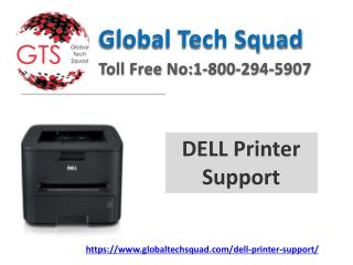 Support for Dell Printer Online Toll Free:US 1-800-294-5907