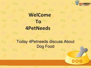 Buy Online Pet Food in India-4Petneeds