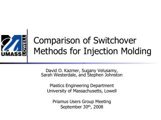Comparison of Switchover Methods for Injection Molding