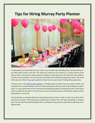 Murray Party Planners