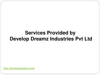 Services Provided by Develop Dreamz Industries Pvt. Ltd.