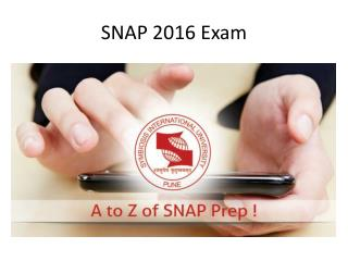Snap 2016 Exam Analysis
