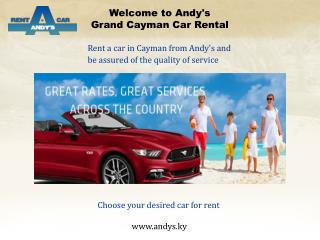 Affordable Car Rental services in Grand Cayman.  A brief review