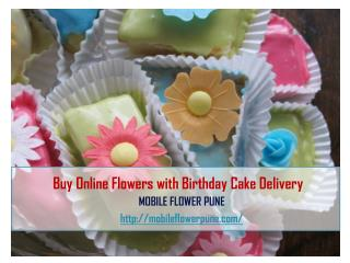 Buy Online Flowers With Birthday Cake Delivery
