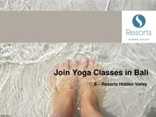 Join Yoga Classes in Bali