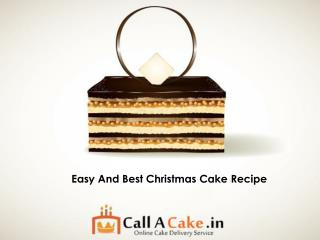 Easy And Best Christmas Cake Recipe