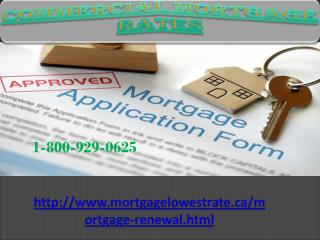 Get one stop solution to call at 1-800-929-0625 Commercial Mortgage Rates