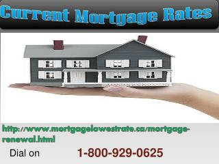 Current 1-800-929-0625 Mortgage Rates