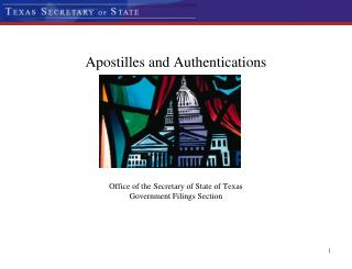 Apostilles and Notarizations