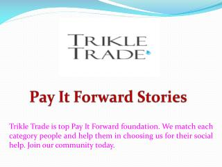 Pay it Forward Stories