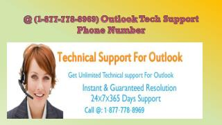 """Outlook not working"" \\@ (1-877-778-8969)\\properly 