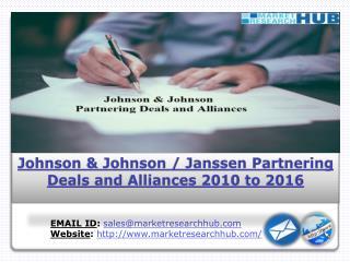 Precise Study on Johnson & Johnson/Janssen Partnering Deals & Alliances during 2010-2016