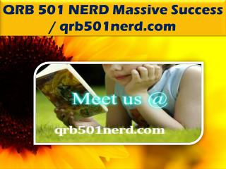QRB 501 NERD Massive Success / qrb501nerd.com
