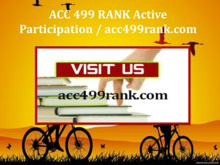ACC 499 RANK Active Participation / acc499rank.com