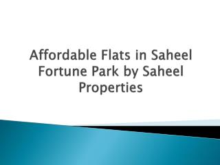 1 BHK Apartments in Moshi at Saheel Fortune Park