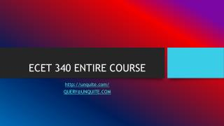 ECET 340 ENTIRE COURSE