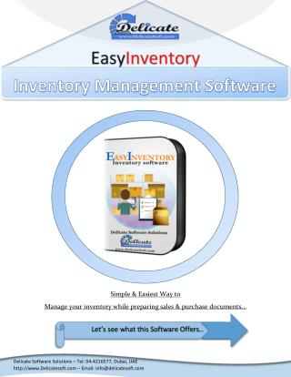 Inventory Software in Dubai