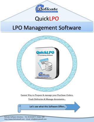 LPO Management Software in Dubai