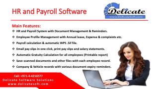 HR Payroll Software in Dubai