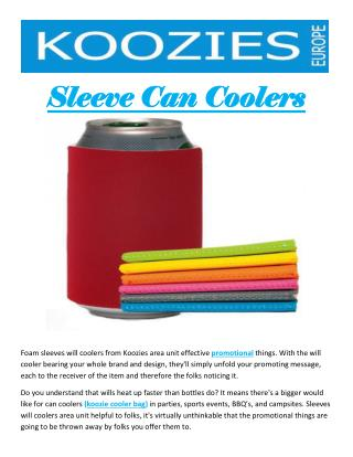 Sleeve Can Coolers