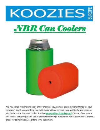 NBR Can Coolers