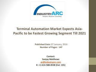 Terminal Automation Market: Automation Training to Boost Terminal System Safety