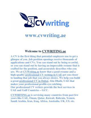 CV Writing Company in Dubai, UAE