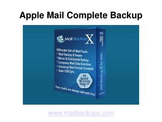 Apple Mail Complete Backup