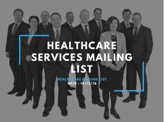 Healthcare Services Mailing List