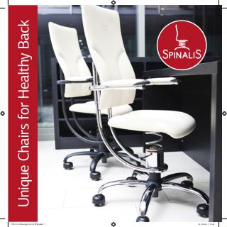 SPINALIS CANADA Healthy Chairs for Active Sitting Catalogue