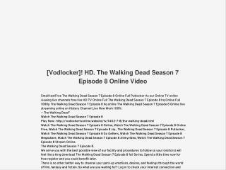 [Vodlocker]! HD. The Walking Dead Season 7 Episode 8 Online Video