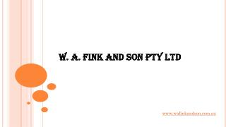 W. A. Fink and Son - Garage Equipment & Car Hoist Experts Melbourne